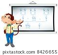monkey showing white board 8426655