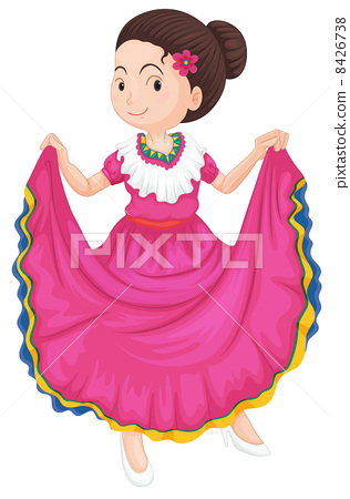 girl in traditional dress 8426738