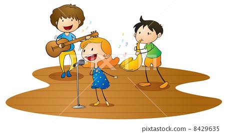 kids playing music 8429635
