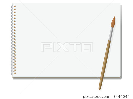 Sketchbook and brush - Stock Illustration [8444044] - PIXTA