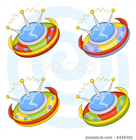 Cartoon flying saucers 8446592