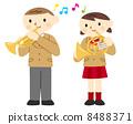 小號和喇叭演奏 8488371