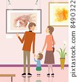 illustration of a family in art museum 8490322