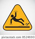 slippery, floor, sign 8524690