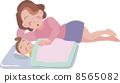 睡在一起 親子 父母和小孩 8565082