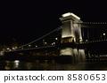 【夜景】塞切尼链桥 - 桥梁 8580653