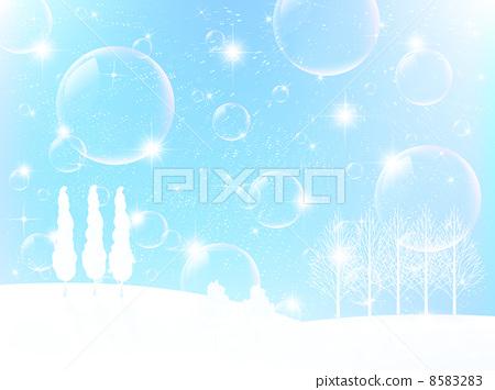 눈 크리스마스 배경 8583283