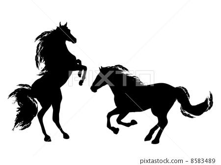 Stock Illustration: animal, horse, vector