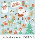 聖誕老公公 聖誕老人 矢量 8594776