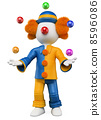 3D white people. Clown juggler 8596086