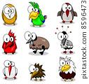 Collection of cartoon birds 8596473