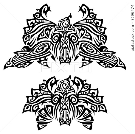 Tattoo with birds 8596474