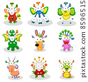 Cartoon monsters, goblins, ghosts 8596515
