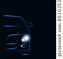 auto, headlight, sportcar 8610253