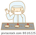 矢量 脆餅 蛋糕 8616225