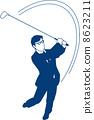 골프 클럽을 스윙 사업 8623211