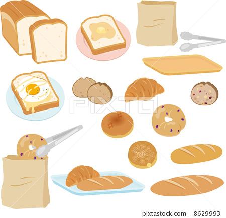 矢量 面包 各种各样 8629993