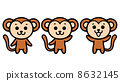 monkeys, vector, vectors 8632145