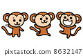monkeys, vector, vectors 8632147