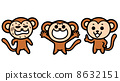 monkeys, vector, vectors 8632151