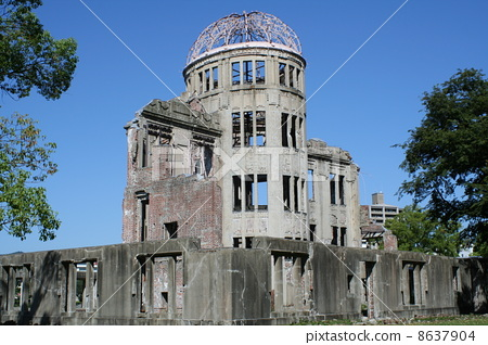 The A-Bomb Dome of the blue sky 8637904
