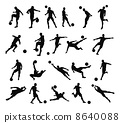 Soccer football player silhouettes 8640088