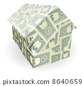 Dollar bills house 8640659