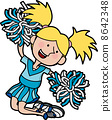 Illustration of cheerleader 8642348