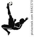 Soccer football player illustration 8642370