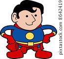 Illustration of superhero 8642419