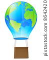 Hot air balloon globe 8642420