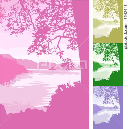 lake background Illustration 8642448