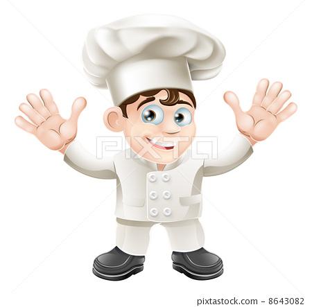 Cute chef mascot character 8643082