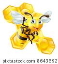 蜜蜂 矢量 矢量图 8643692