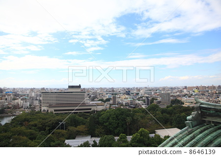 View from Nagoya castle castle tower 8646139