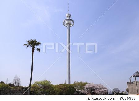 "Seto Ohashi Bridge Memorial Park Rotating Observation Tower ""Seto Ohashi Bridge Tower"" 8656822"