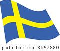瑞典国旗 8657880