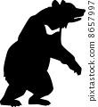 실루엣, 벡터, 동물 8657997