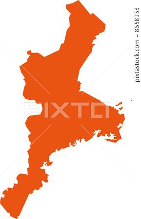 미에현의지도 8658153