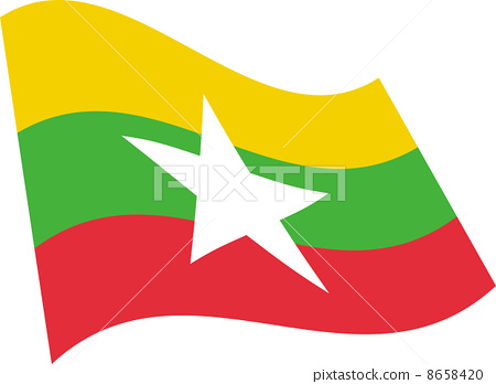 Flag of Myanmar 8658420