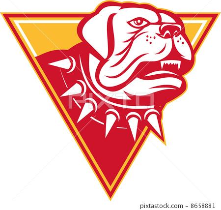 English Mastiff Dog Mongrel Head 8658881