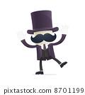 funny cartoon illusionist 8701199