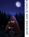 Little Red Riding Hood waits the wolf 8709474