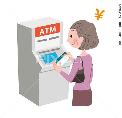使用ATM的女人 8709869