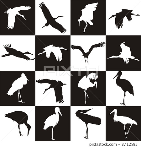 Background with storks 8712583