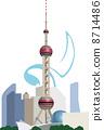 중국 동방 명주 전자 탑 8714486