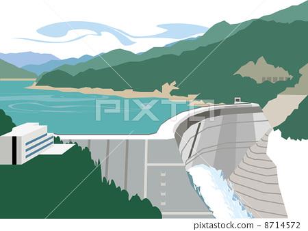 富山黑部水壩 8714572