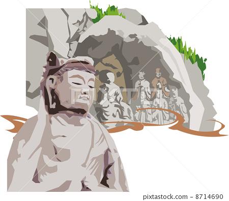 Oita's Usuki brushstroke Buddha 8714690