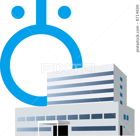 Map symbol of public office and government office building 8714696