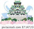 오사카 성, 벡터, 아이콘 8714720